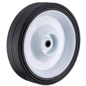 150 mm massief rubber op kunststof naafwielen - 150 mm massief rubber op kunststof naafwielen