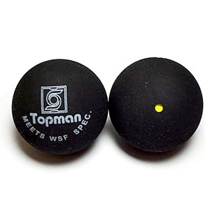 Enkele gele stip squashballen