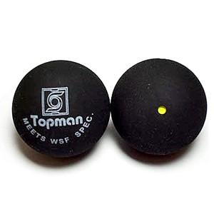Enkele gele stip squashballen - Squashballen (enkele gele stip)