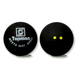 Dubbele gele stip squashballen