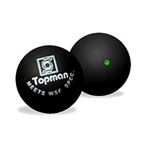 Green dot squash bola