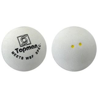 Dubbele gele stip witte squashballen - Witte squashballen (dubbele gele stip)