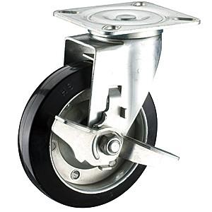 Zwenkwielen van 150 mm x 42 mm met zwenkwielen met zachte rubberen wielen - Zwenkwielen van 150 mm x 42 mm met zwenkwielen met zachte rubberen wielen