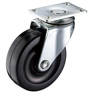 """Zwenkwielen van 2-1 / 2 """"x 13/16"""" met zwenkwielen met zachte rubberen wielen - Zwenkwielen van 2-1 / 2 """"x 13/16"""" met zwenkwielen met zachte rubberen wielen"""