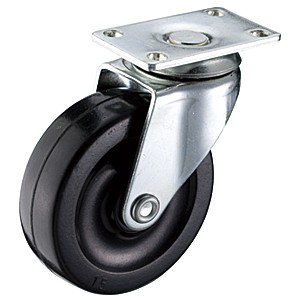 "2-1 / 2 ""x 13/16"" Swivel Top Plate Casters Na May Mga Soft Rubber Wheels - 2-1 / 2 ""x 13/16"" Swivel Top Plate Casters Na May Mga Soft Rubber Wheels"