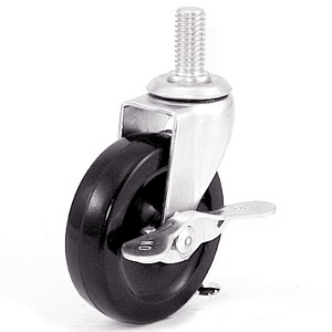 """2-1/2"""" x 13/16"""" Threaded Stem Casters With Soft Rubber Wheels - 2-1/2"""" x 13/16"""" Threaded Stem Casters With Soft Rubber Wheels"""