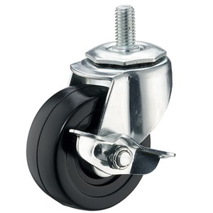 "3"" x 1-1/4"" Threaded Stem Casters With Hard Rubber Wheels - 3"" x 1-1/4"" Threaded Stem Casters With Hard Rubber Wheels"