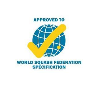 Goedgekeurd door de World Squash Federation (WSF)