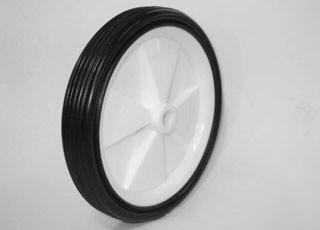 Massieve rubberen wielen met kunststof naaf