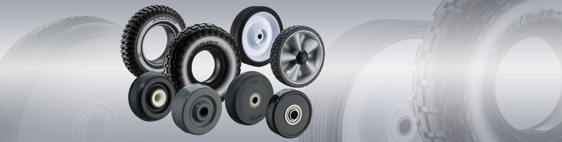 Verscheidenheid aan    Rubberen wielen    Productie