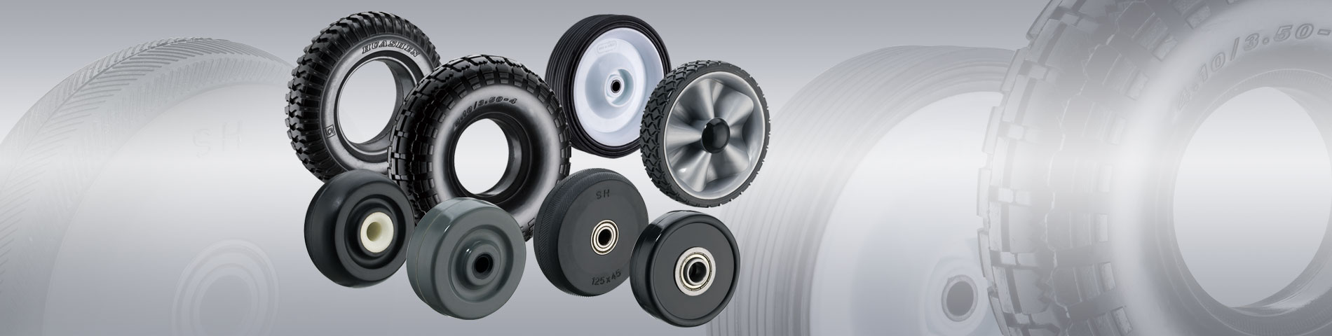 Variety of Rubber Wheels Manufacturing