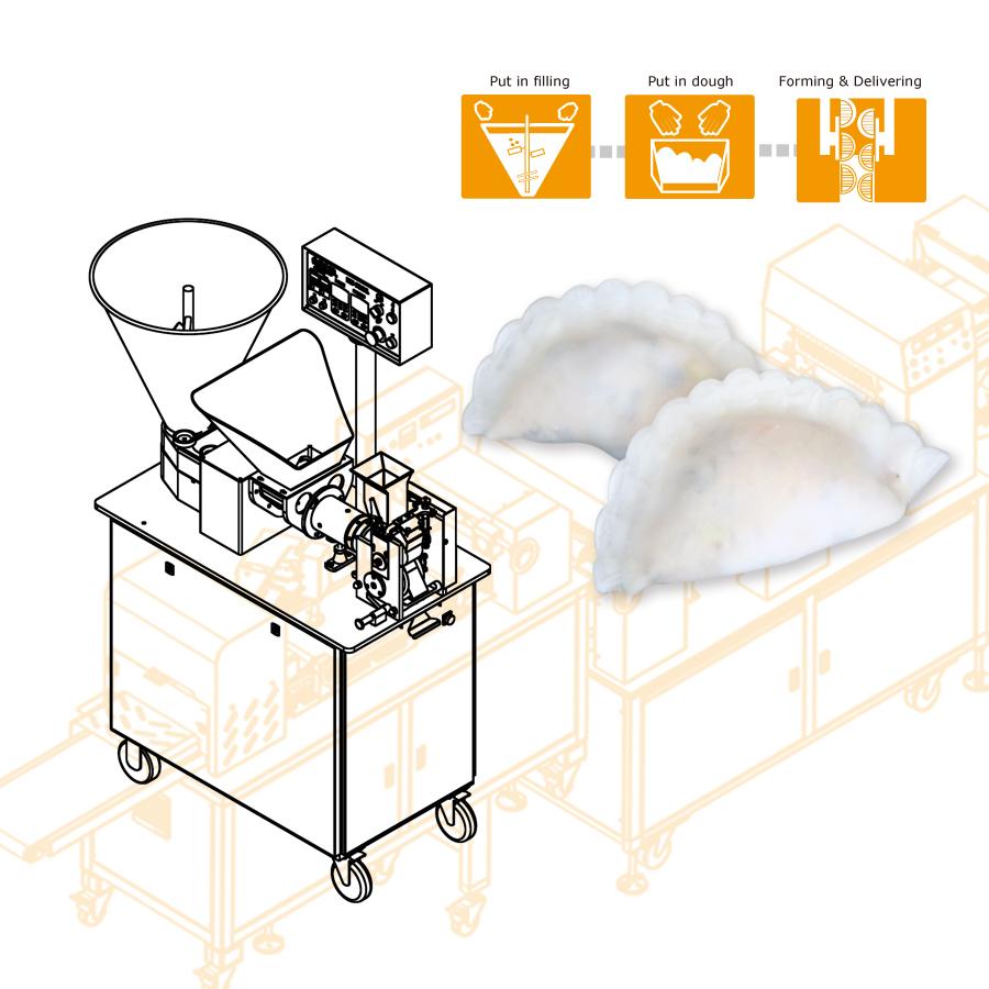 Using ANKO food machine to produce dumpling