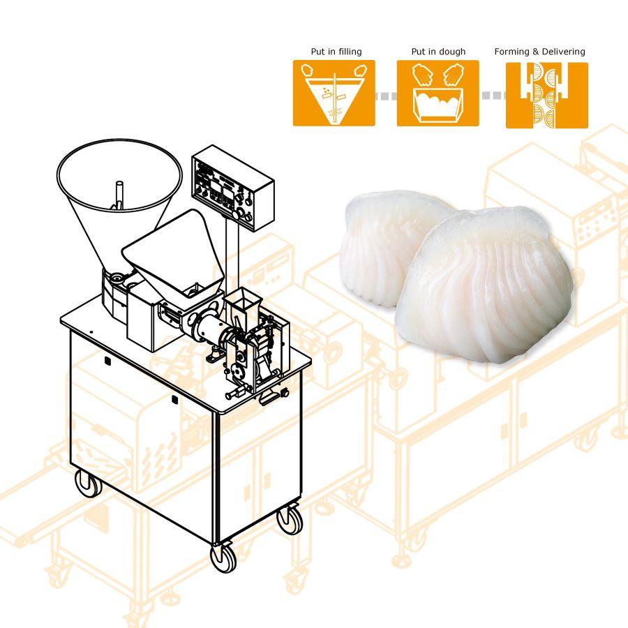 使用する ANKO エビを生産する食品機械 餃子
