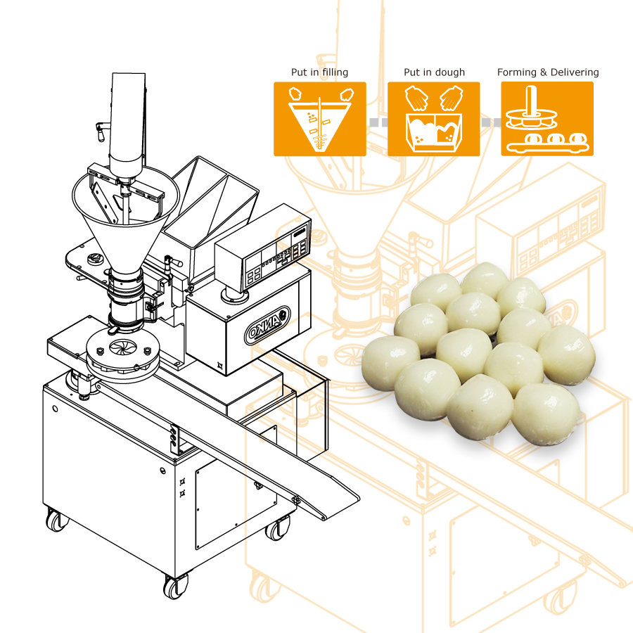 Using ANKO food machine to produce tang yuan