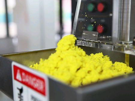 ANKO स्वचालित ट्रिपल-लाइन शुमाई मशीन आटा हॉपर