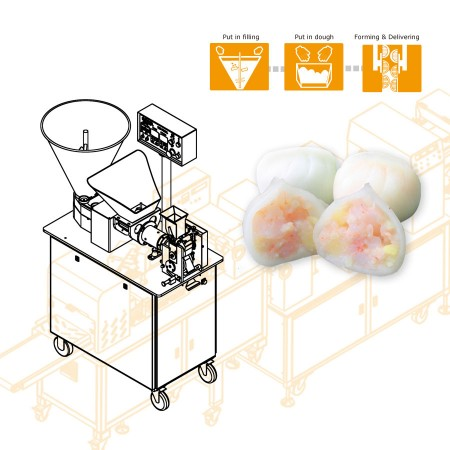 ANKO Automatic Har Gow Machine - Machinery Design for a Dutch Company