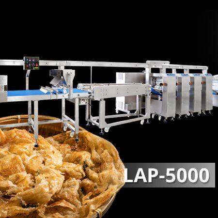 Lacha Paratha og Green Scallion Pie produktionslinje