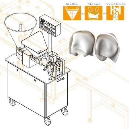 Shanghai Wonton Automatic Production Machine Design to Solve Labor Shortage