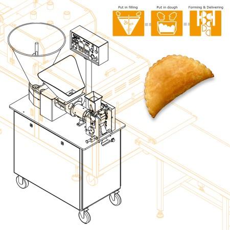 多功能包餡、成型機 -チュニジアの会社の機械設計