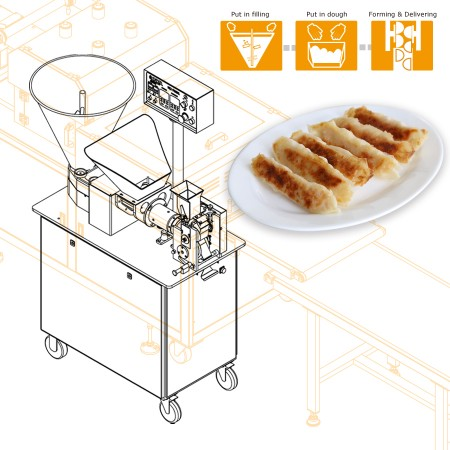 Using ANKO food machine to produce potsticker