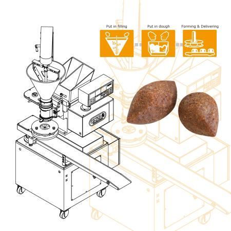 Kubba Automatic Production Equipment Designed to Solve the Forming Problem Caused by Sticky Crust