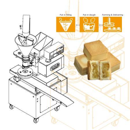 パイナップル ケーキ 新製品発売に向けた自動生産ラインのセットアップ