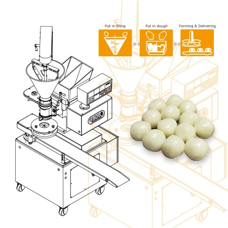 Automatic Encrusting and Forming Machine-Machinery Design for Hong Kong Company