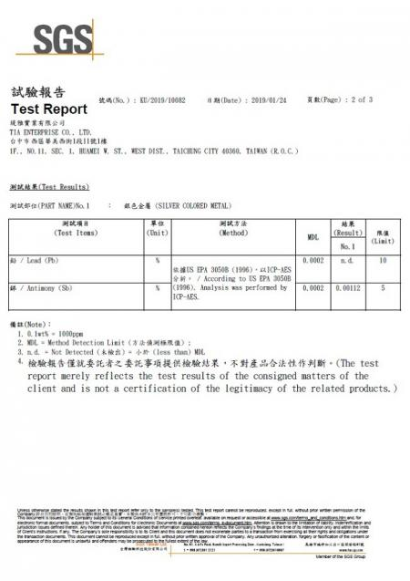 Green-Tak FU-01 stainless steel faucet SGS lead free test report.