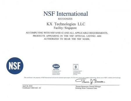 KX High Quality Carbon Block CTO Filter NSF certificate.
