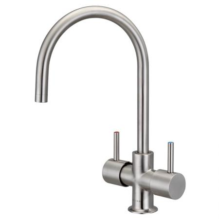 Stainless Steel 2-way Boiling Water Faucet - SUS Dual Lever Water Faucet.