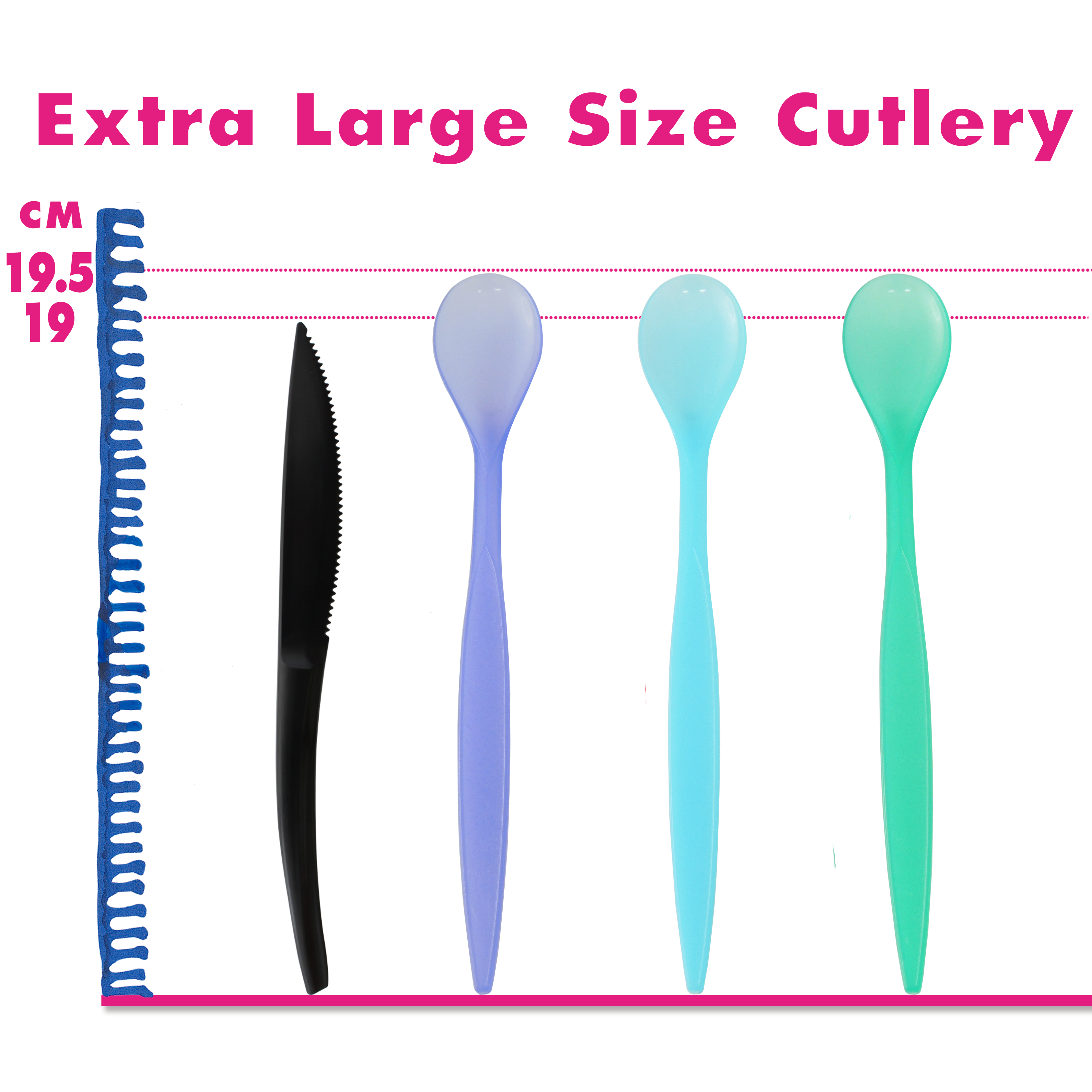 18.5-22cm Extra Large Plastic Cutlery