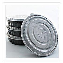 Bekas Makanan Microwavable - Kontena Makanan Plastik Bulat