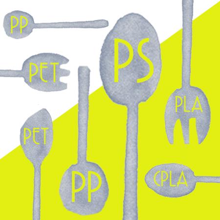 Bahan alat makan - pinggan mangkuk plastik yang dibuat oleh PP, PS, PLA, CPLA, PET, Kertas
