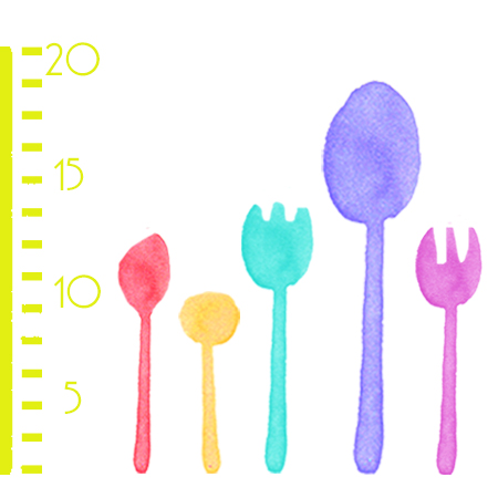 Cutlery size - we have small plastic tableware and large plastic cutlery