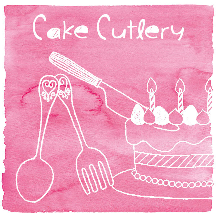 Plastic Cake Cutlery - The plastic cake cutlery with stylish design