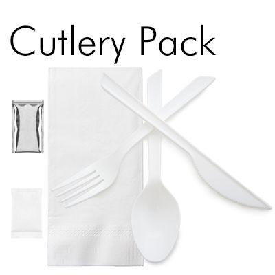 Set Peralatan Makan Plastik - Set Peralatan Makan Plastik Sekali Pakai