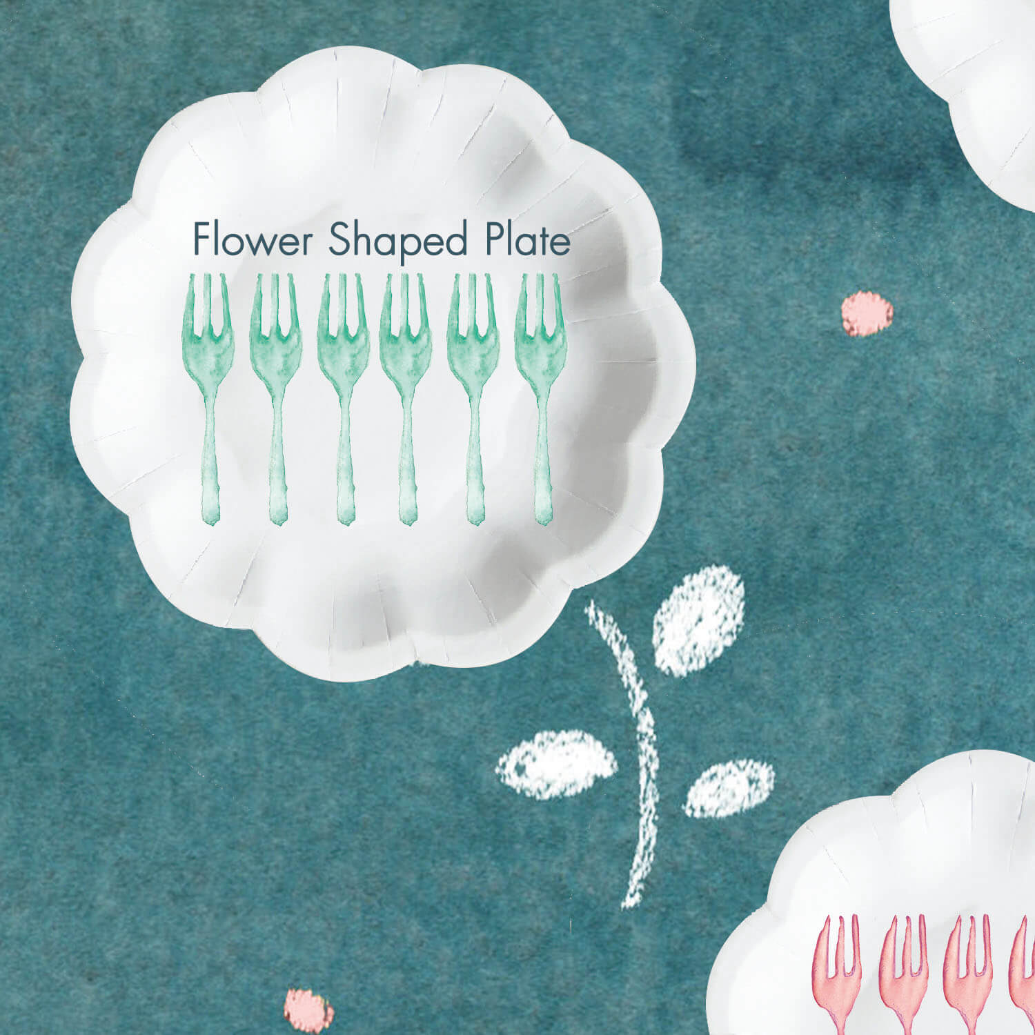 Cake Fork And Cake Plate - Cake Paper Plate and cake fork