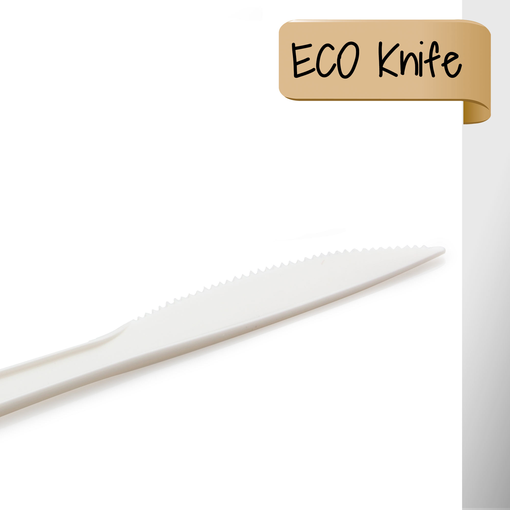 CPLA Knife - Pisau Biodegradable