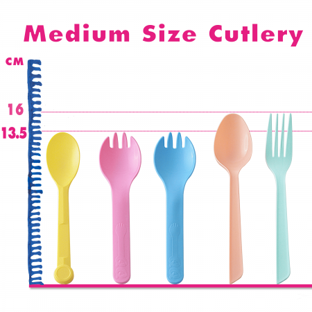 13.5-16cm Medium Plastic Cutlery