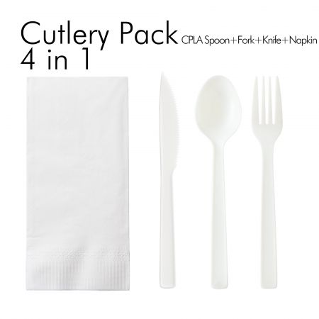 4 in 1 Eco-Friendly Spoon and Fork Set - You can combine any tableware you want.