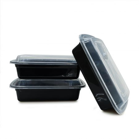 24oz Rectangle Food Container(720ml) - 720ml Heat-resistant Plastic Rectangle Food Container