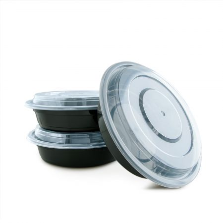 24oz Round Food Container(720ml) - 720ml Heat-resistant Plastic Round Food Container