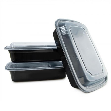 32oz Rectangle Food Container(960ml) - 960ml Heat-resistant Plastic Rectangle Food Container