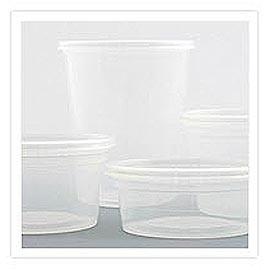 Contenedor Deli Microondas - Sopa de plástico y envase de ensalada.