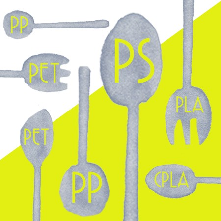 Cutlery material - plastic cutlery made by PP, PS, PLA, CPLA, PET, Paper