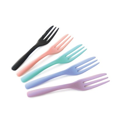 10cm French Dessert Cake Fork - Mini disposable dessert tablefork for wholesale, manufacturer can help to custom LOGO on the tableware.