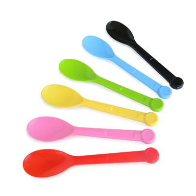 13.5cm Plastic Spoon - Colored Ice Cream Spoon from factory supplier, one box has 2000 pcs.