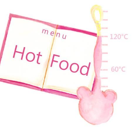 Salur plastik mesra makanan panas (-20 ° C ~ + 120 ° C)