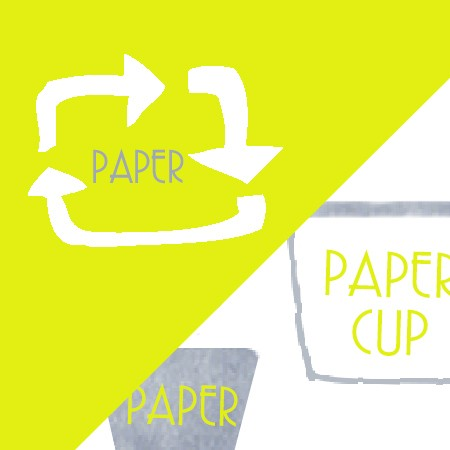 Paper Cup and Cutlery