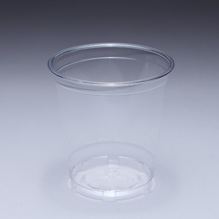 12oz (360ml) PET Cup - 360cc PET Cup with 98 mm mouth diameter, manufacturer can help to custom LOGO on the plastic cup.